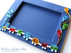 Quilled baby frame - by: Dana's Quilling Blog