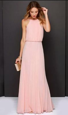 Chiffon dress-Pink