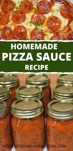 Pizza Sauce Recipe Fresh Tomatoes, Canning Pizza Sauce, Tomato Pizza Sauce, Fresh Tomato Recipes, Homemade Tomato Sauce, Tomato Sauce Canning, Pizza Sauce Recipes, Salsa For Canning, Homemade Italian Spaghetti Sauce