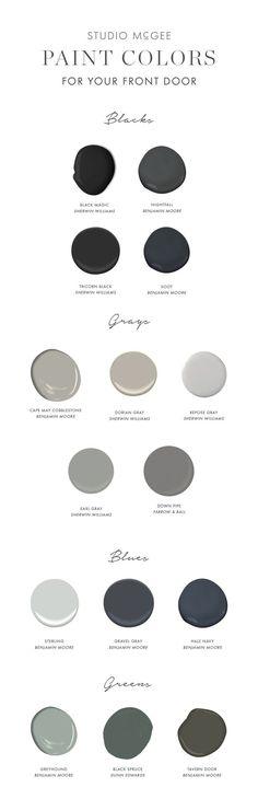 dark paint colors for your front door