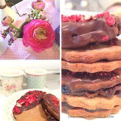 Lakritz -Kekse mit Schokolade und Erdbeeren .... Rezept auf dem Blog