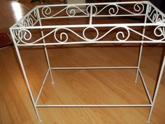 Wrought Iron Table Base Aquarium Stand Shabby by 3sisterstreasures, $41.99