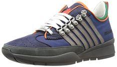 DSQUARED2 Men's Tessuto Tecnico BLU Fashion Sneaker