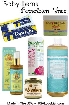 Baby Bath Products Made in USA without Petroleum Byproducts Available at Whole Foods  #thinkdirty #getclean #AmericanMade via USALoveList.com