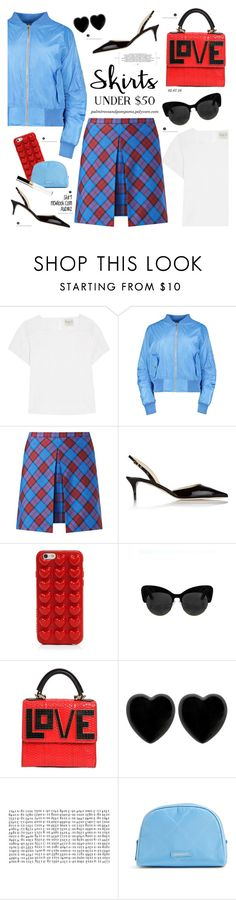 """Skirts Under $50"" by palmtreesandpompoms ❤ liked on Polyvore featuring Sea, New York, New Look, Jimmy Choo, Marc Jacobs, Les Petits Joueurs, Dollydagger, Vera Bradley, Chanel, sea and under50"