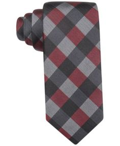 Modern and refreshing, the cool tones and updated check pattern of this Anaheim Gingham slim tie from Ryan Seacrest Distinction is sure to make a bold styling statement. | Silk | Dry clean | Imported