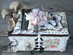 Shabby Chic Treasures and Junkyard Findings altered box by Miranda! #ingvildbolme #primamarketing