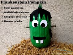 Pumpkin Decorating Ideas from East Coast Creative.  Frankenstein Pumpkin and tons more!!