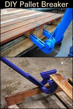 Make your own pallet breaker tool! This DIY Pallet Breaker Makes Dismantling Easier and Faster Welding Tools, Metal Welding, Welding Projects, Pallet Projects, Welding Ideas, Diy Welding, Used Pallets, Wooden Pallets, Homemade Tools