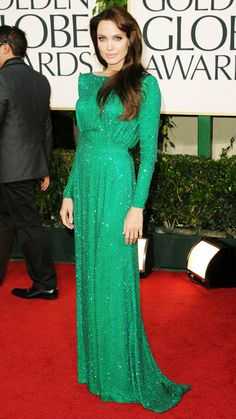 Angelina Jolie's 10 Best Red Carpet Looks Ever - Atelier Versace, 2011 from #InStyle