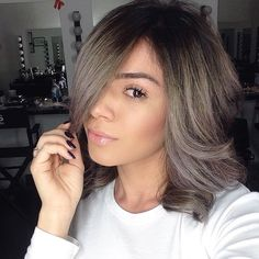 smokey grey with a hint of violet