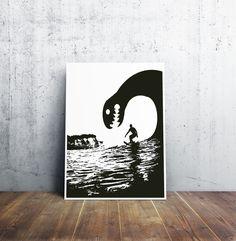 Monsterwelle 1 Fine Art Prints, Poster, Batman, Superhero, Fictional Characters, Design, Rogue Wave, Picture Frame, Art Prints