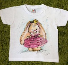 Hand painted Baby T-shirt. Toddler Kid's tee. by palettePandora