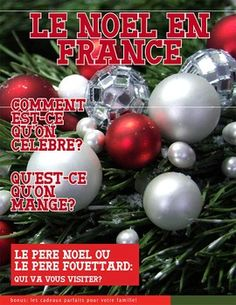 26 page magazine with activity sheets about Christmas in France. French Teacher, Teaching French, School Holidays, Winter Holidays, School Days, School Stuff, High School French, Teaching Schools, Teaching Ideas
