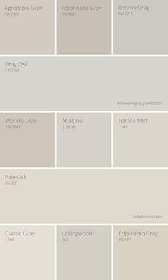 11 Greatest Best Warm Gray Paint Colors