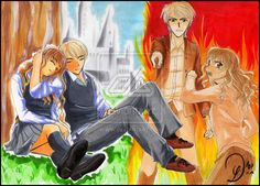 Parallels of ours ... by Ryoko-san18.deviantart.com on @deviantART  It's artwork like these that make me adore them together more!