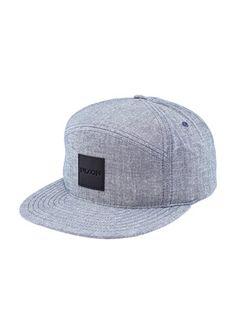 Snapper Chambray Snap Back Hat - Steel Blue | Nixon Mens Hats