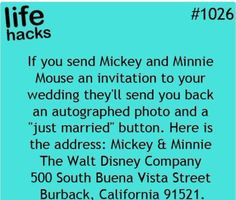 5 Wedding Life Hacks life hacks - Life Hack Thought you might want to know this - Sam and Shyla.life hacks - Life Hack Thought you might want to know this - Sam and Shyla. Simple Life Hacks, Useful Life Hacks, 1000 Lifehacks, Monsieur Madame, Future Mrs, Mickey Y Minnie, Minnie Mouse, Mickey Mouse Memes, Disney Mickey