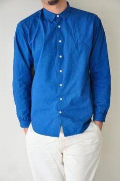 Shirt -NOGUCHI BLUE- - ■ foo web site ■