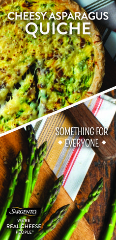 The incredible and oh-so edible egg just got way more appetizing. This Easter, try an asparagus quiche that includes Swiss and Mozzarella cheese, onion and asparagus. Make it special with our 100% real, natural cheese. Get the complete recipe at Sargento.com.