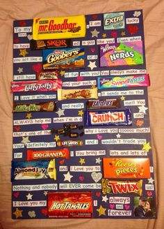 Okay so I looked up on Pinterest gift ideas and I saw this one I'm totally in love with it August 1st is my brother bday so I decide to do it for him can't wait to see his reaction ! He is a candy lover