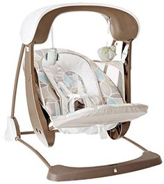 It's a portable six speed space saver swing with music, soothing nature sounds, and a deluxe, ultra-soft, removable newborn insert. And it's a stationary baby seat with soothing sounds, music and calming vibrations for newborns and babies up to 25 pounds, too. It's Fisher-Price deluxe take along swing and seat-two mom and baby-favorite babygear solutions in one for double the use and less clutter in your home. Smart swing technology offers 6 distinct swinging speeds from low to high so you…