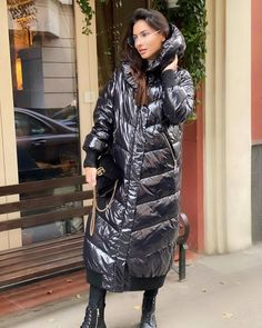 Puffer Jackets, Winter Jackets, Langer Mantel, Snow Suit, Russia, Winter Fashion, Jackets For Women, Sari, Coat