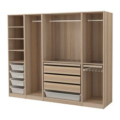 Ideal IKEA PAX Wardrobe White stained oak effect xx cm year guarantee Read about the