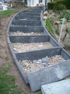 Eine treppe aus stahlbeton gartenbau selber gemacht garten pinterest stahlbeton - Gartentreppe anlegen ...