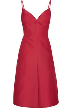 Valentino | Cotton and silk-blend dress | NET-A-PORTER.COM