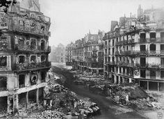 Siege of Paris, 1871  Vue de la rue de rivoli entre la rue saint-martin