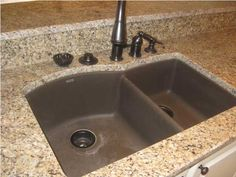 granite composite sinks | From Kitchen to Keeping Rm Granite Composite Sink. i like the counter as well.