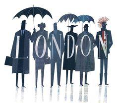 Illustration - illustration - LONDON www. illustration : – Picture : – Description LONDON www.creativeboysc… -Read More – London Calling, Parasols, Umbrellas, London Today, Alley Cat, Grafik Design, Pics Art, British Isles, Mail Art