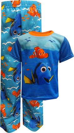 Finding Dory Nemo Flame Resistant 3 Piece Short Pajama PJ Set Boys 4T NWT