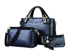 Krokodil Leder Damen Handtasche Crossbody Messenger Bags Set