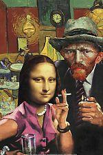 ART PRINT  Ladies' Night by Barry Kite Fantasy Van Gogh & Mona Lisa 16x24 Poster
