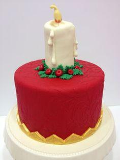 Medusa's Cakes: TARTA VELA DE NAVIDAD / CHRISTMAS CANDLE CAKE