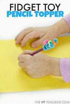 DIY pencil topper fidget toy for kids