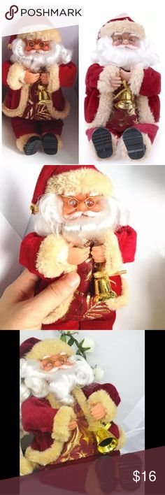 "Christmas Santa Claus Doll - Tree Ornament Gift Christmas Lovely Doll Decoration.                            Material: Velvet                                                          Color : Red                                                                 Size: App 11"", Width: Approximately 6"" Other"