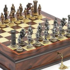 Medieval Hand Painted Chessmen  Luxury Milano Cabinet Board from Italy * Check this awesome product by going to the link at the image.