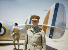 Field Marshal Jan Smuts, Prime Minister of the Union of South Africa, standing in front of a Lockheed Lodestar aircraft of No. Field Marshal Jan Smuts, Prime Minister of the U Union Of South Africa, North Africa, South African Air Force, Field Marshal, Man Of War, Modern History, British History, African History, Military History