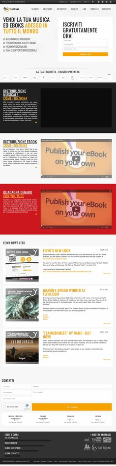 Feiyr è un servizio di distribuzione digitale che offre ai musicisti, alle band e alle etichette discografiche la capacità di vendere la loro musica attraverso i principali rivenditori internazionali digitali.  Con Feiyr puoi distribuire anche audio book ed ebook.