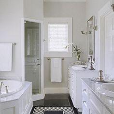 dark floor + white walls = gorgeous