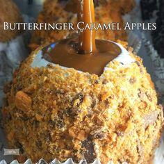 Butterfinger Caramel Apples – Food Recipes
