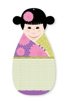 Kokeshi Doll Class Schedule