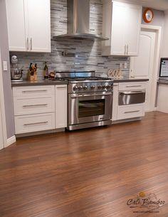 Kitchen flooring idea: Antique Java bamboo flooring by Cali Bamboo, rustic flooring, distressed flooring