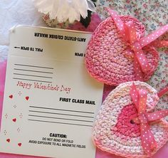 Mailers for Crocheted Hearts
