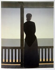 Will Barnet - Woman and the Sea, 1979. Print.