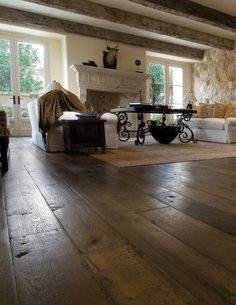 I'm starting to like this french oak stuff .Our custom Aged French Oak floors are extremely popular with interior designers. The unique aging process renders stunning results with the look and patina of genuine antique French oak floors Gite Rural, Hardwood Floor Colors, French Oak, My Dream Home, Future House, Interior Decorating, Sweet Home, New Homes, House Styles