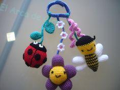 Dulces: Ideas de decoración con ganchillo o crochet (4). Especial amigurumis